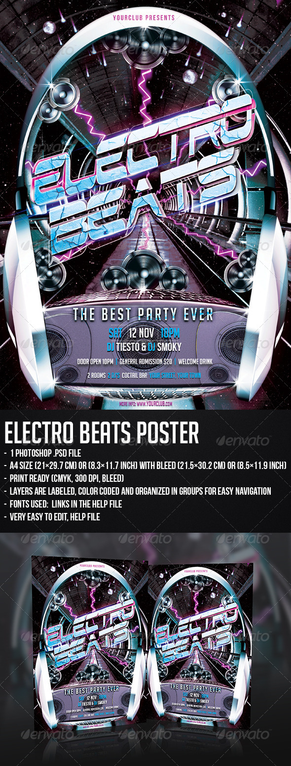 GraphicRiver Electro Beats Poster 5449200