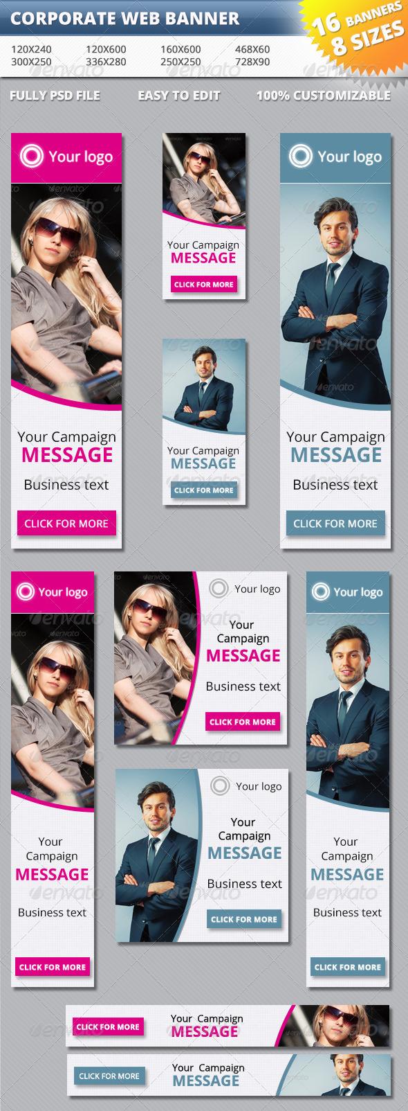 GraphicRiver Corporate Web Banner 5495733