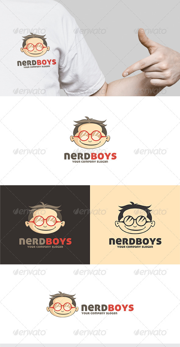 GraphicRiver Nerd Boys Logo 5495814