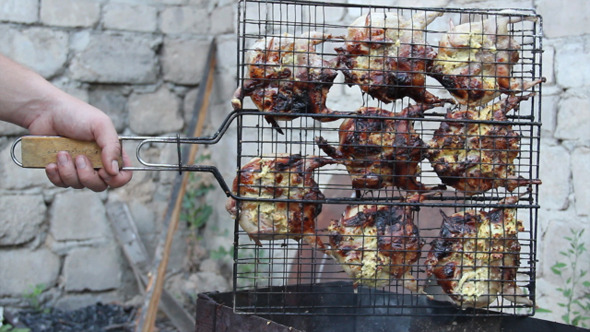 VideoHive Quails On Grill 6 5496977