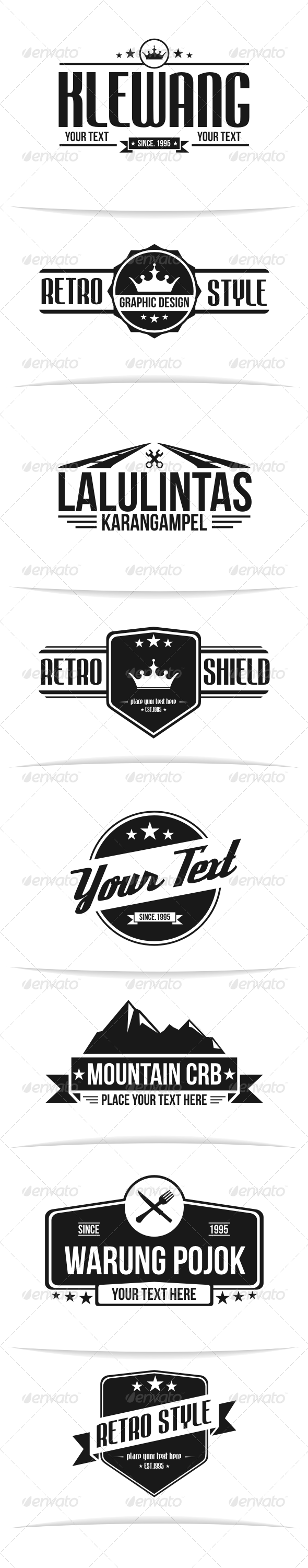 Retro Badges   - Badges & Stickers Web Elements