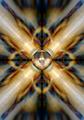 Music speaker on a gold kaleidoscope background - PhotoDune Item for Sale