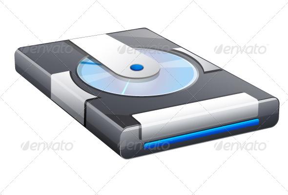 GraphicRiver Hard Disk Icon 5498747