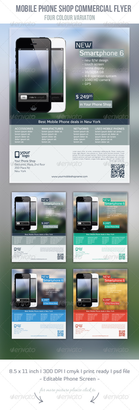 GraphicRiver Mobile Phone Shop Flyer Template 5499317