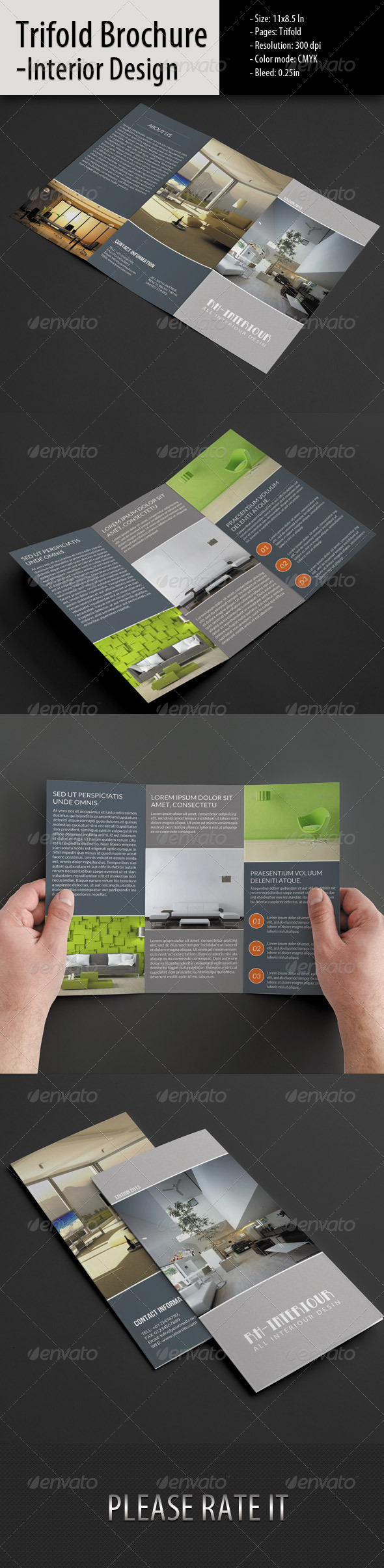GraphicRiver Trifold Brochure for Interior Design 5499700