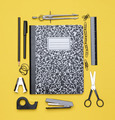 Theme Book with School Supplies - PhotoDune Item for Sale