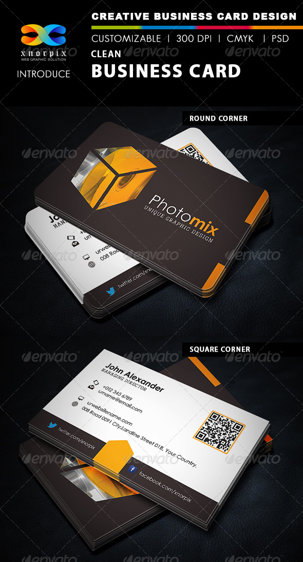 GraphicRiver Clean Business Card 5500626