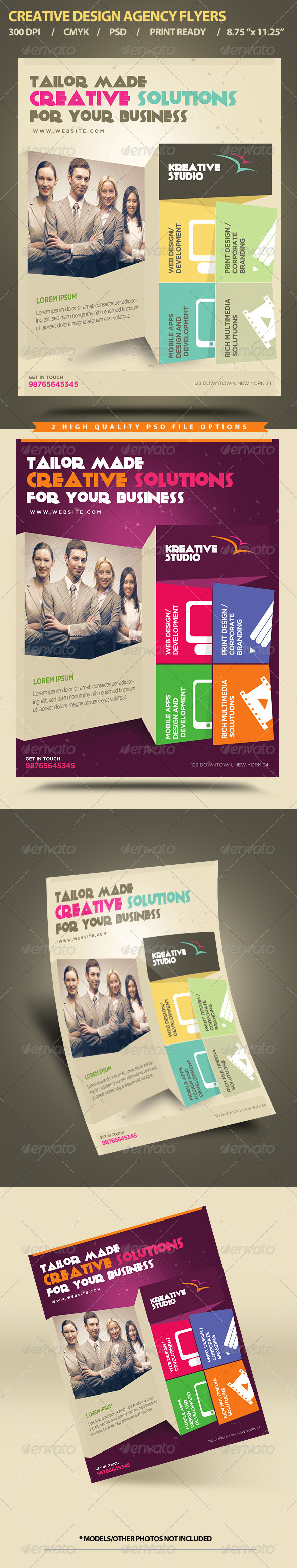 GraphicRiver Creative Design Agency Flyers 5500631