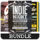 Indie Night - Flyers Bundle [Vol.3] - GraphicRiver Item for Sale