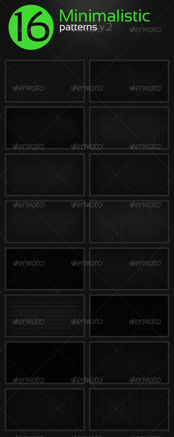 GraphicRiver 16 Minimalistic Clean Patterns v.2 5501074