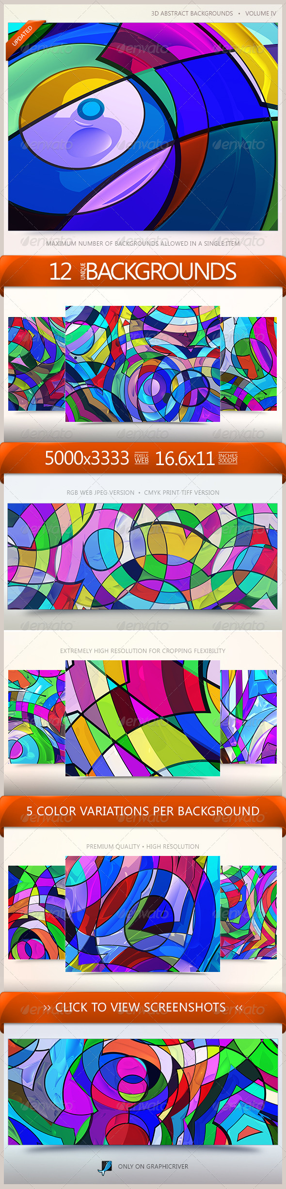 3D Abstract Backgrounds Volume 4 - Abstract Backgrounds