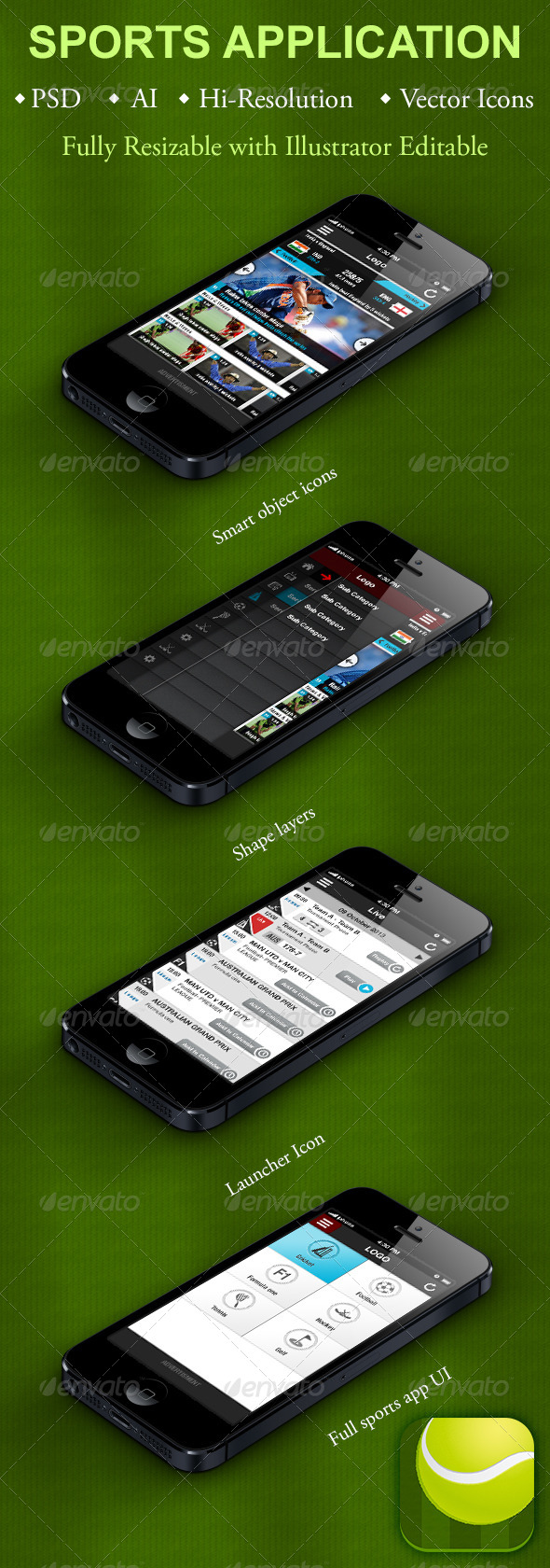 GraphicRiver Sports Application for Smartphones 5502320