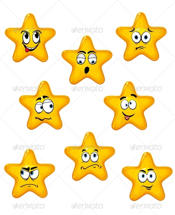 GraphicRiver Cartoon Stars with Different Emotions 5502530