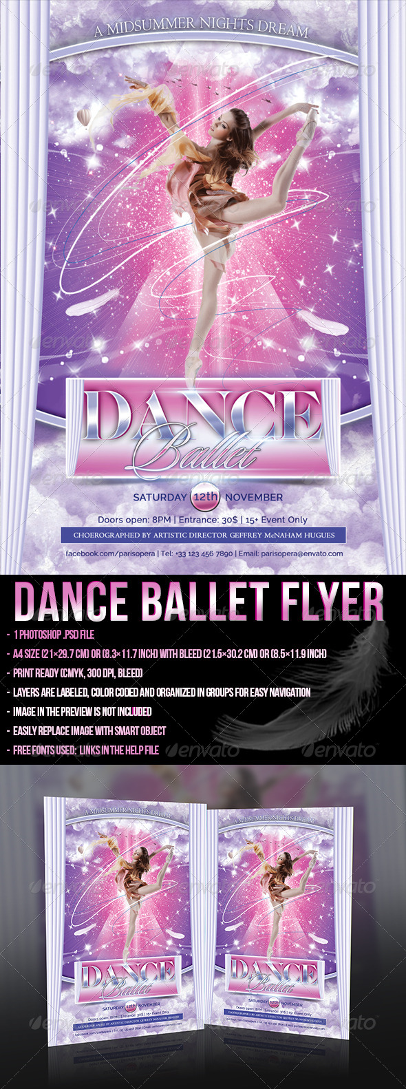 GraphicRiver Dance Ballet Flyer 5459435