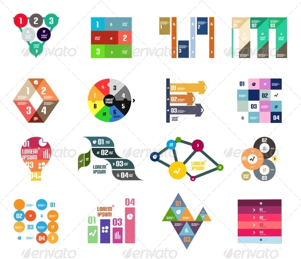 Set of Infographic Templates - Concepts Business
