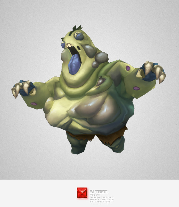 3DOcean Low Poly Fat Zombie 5503849