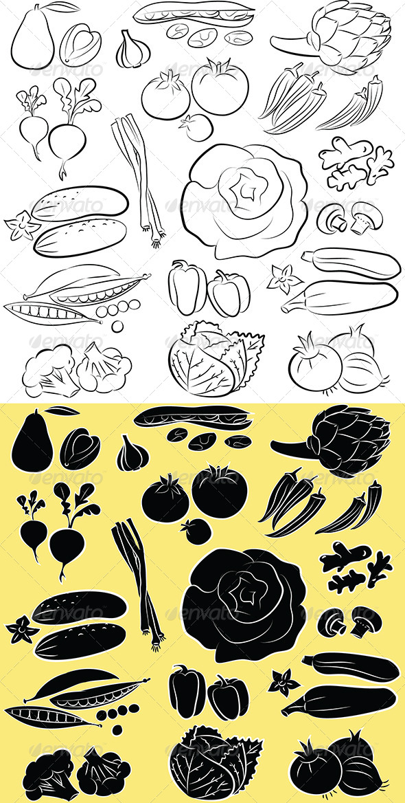 GraphicRiver Vegetables Vector 5504713