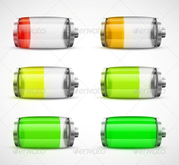 Stock Vector Graphicriver Set Batteries Dondrup