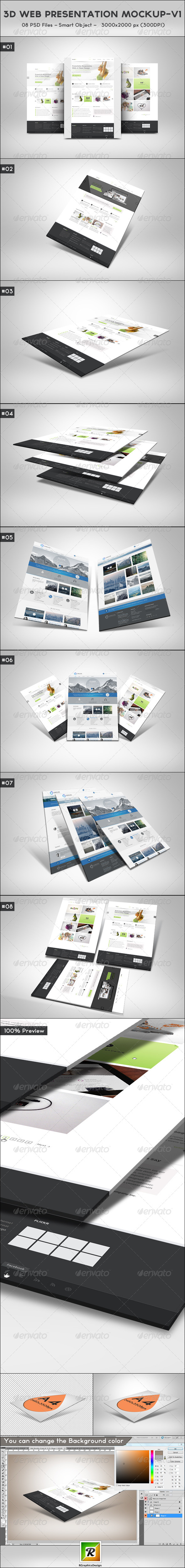 GraphicRiver 3D Web Presentation Mockup V1 5505214