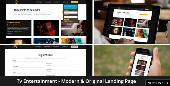 Tv-Entertainment Responsive Landing Page - Film & TV Entertainment