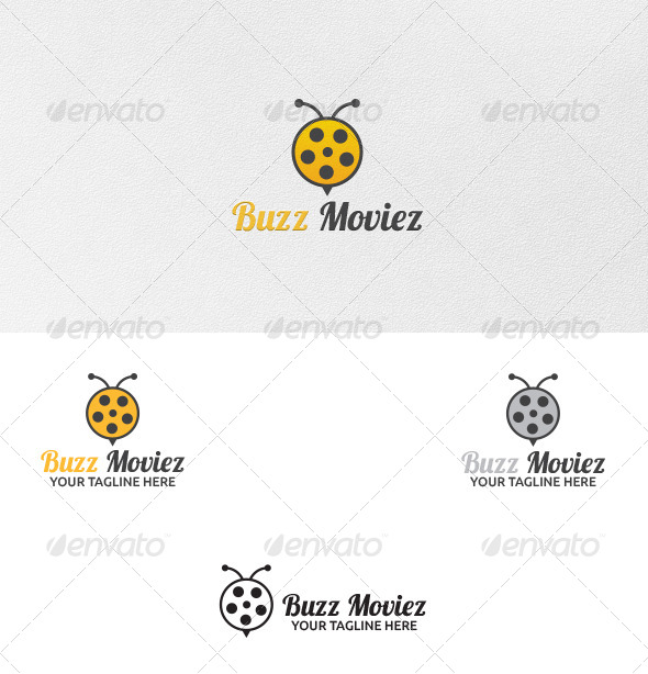 GraphicRiver Buzz Movies Logo Template 5507030