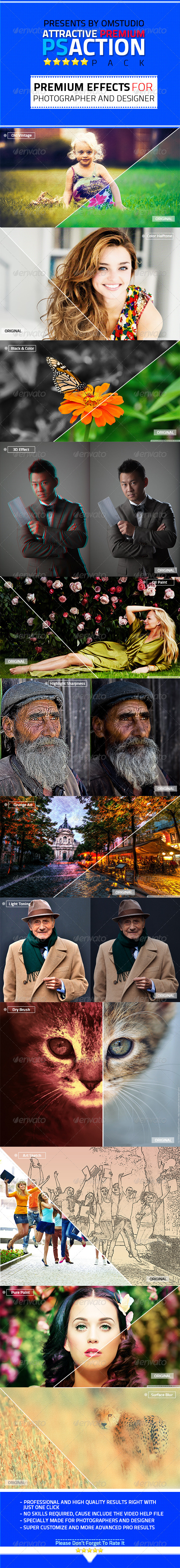 GraphicRiver Attractive Premium Photoshop Action Pack 5507069