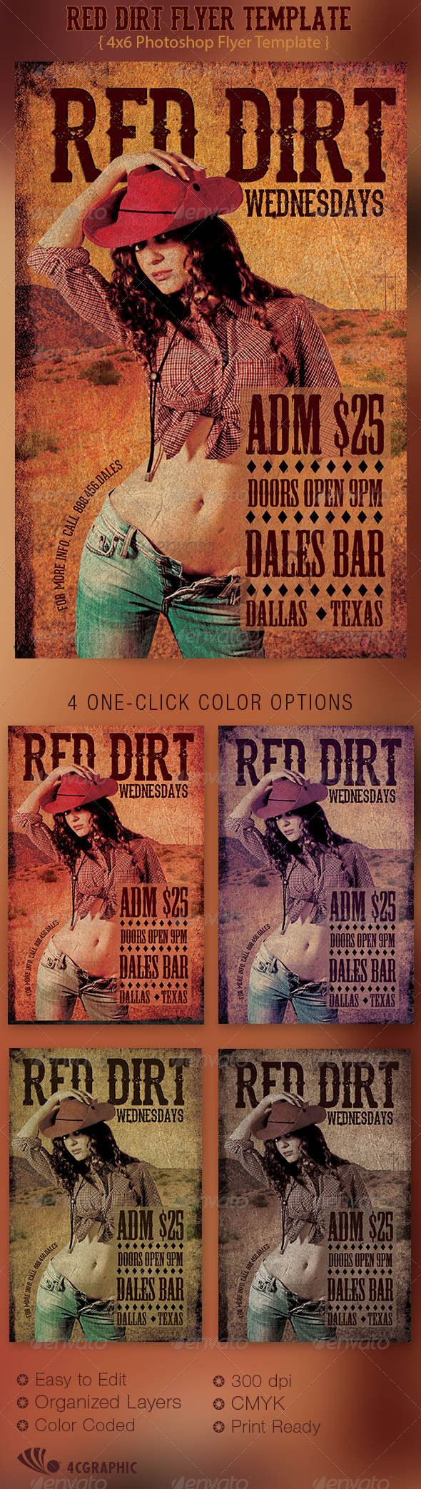 GraphicRiver Red Dirt Flyer Template 5507518