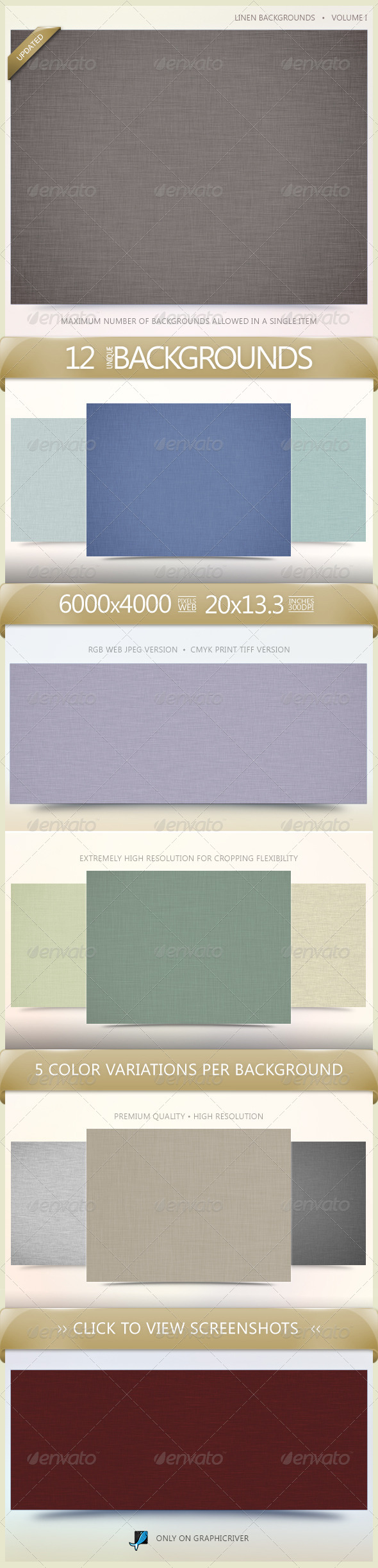 Linen Backgrounds Volume 1 - Business Backgrounds
