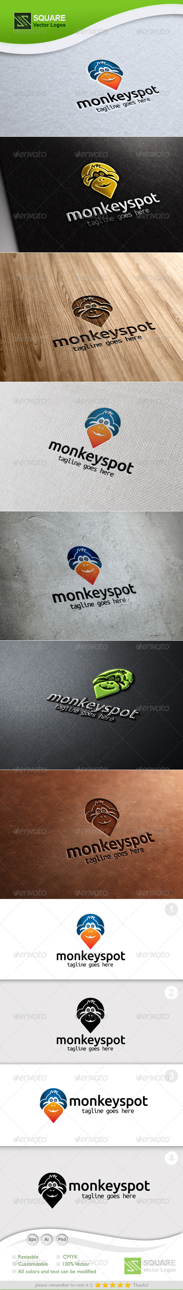 GraphicRiver Monkey Locator Vector Logo Template 5508289