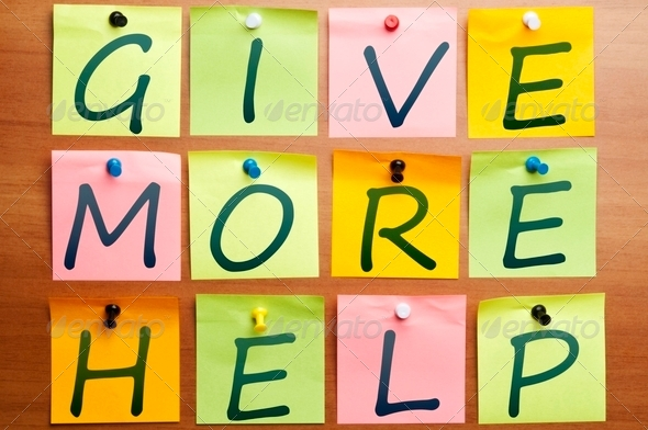 Give more help - Stock Photo - Images