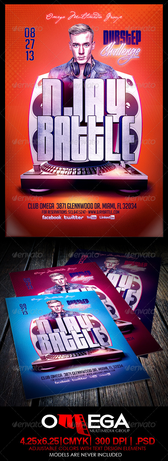 GraphicRiver DJay Battle Dubstep Challenge 5491182