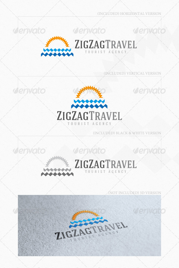 GraphicRiver ZigZag Travel Logo 5508430