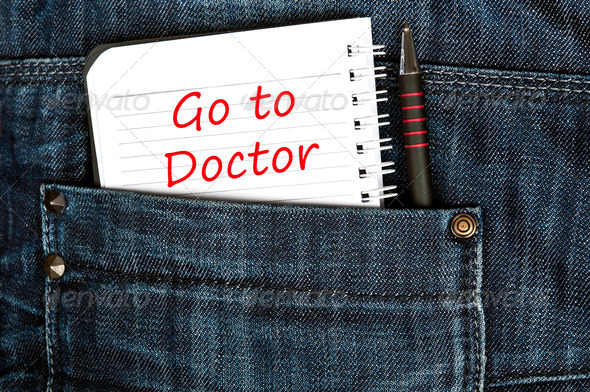 Go to doctor message - Stock Photo - Images