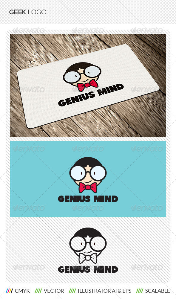 GraphicRiver Geek Nerd Logo 5510154
