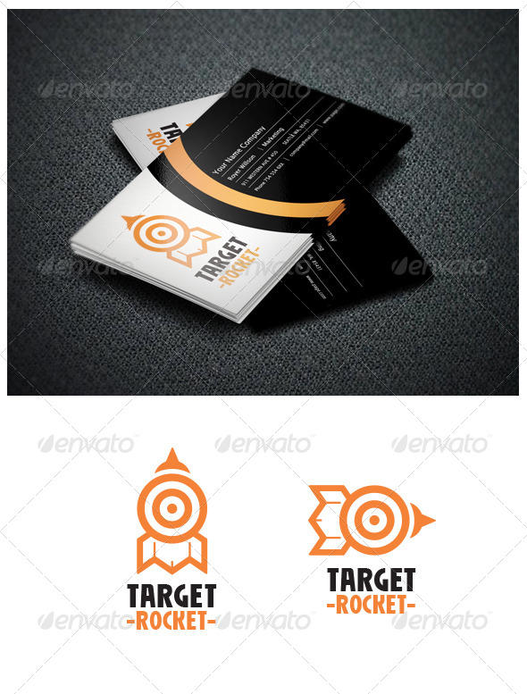GraphicRiver Target Rocket Logo Template 5510966