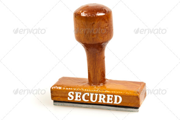 Secured stamp - Stock Photo - Images