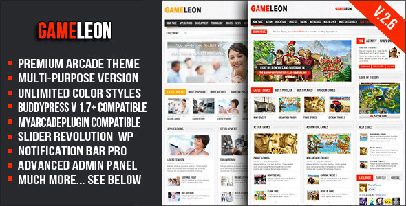 Gameleon - WordPress Arcade Theme - Entertainment WordPress
