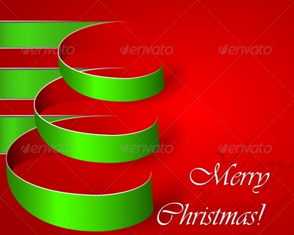 GraphicRiver Green Stripe Christmas Vector Tree 5511222