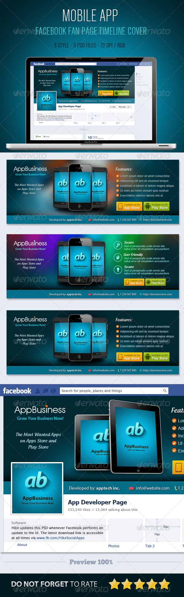 GraphicRiver Mobile App Facebook Timeline Cover 5511400