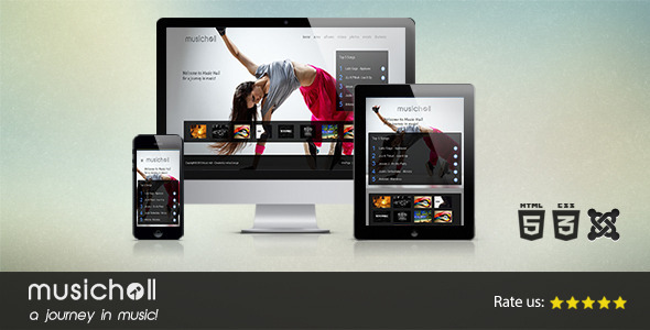 ThemeForest Music Hall Responsive Joomla Template 5488701