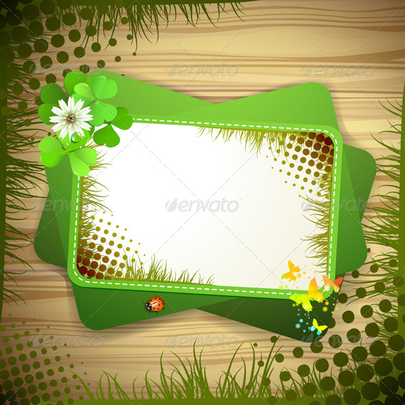 GraphicRiver Background with Clover 5512621