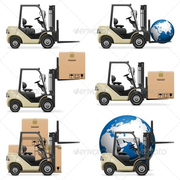 GraphicRiver Vector Forklifts 5512903