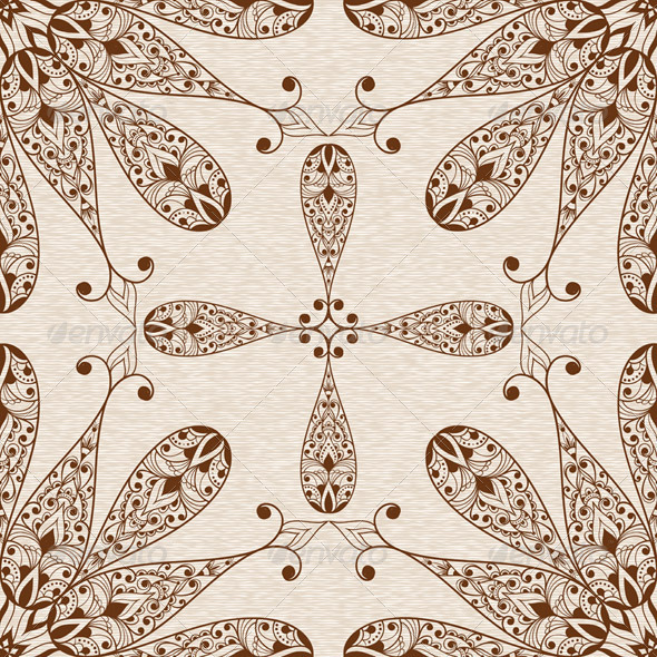 GraphicRiver Vector Seamless Abstract Ethnic Floral Patten 5513894