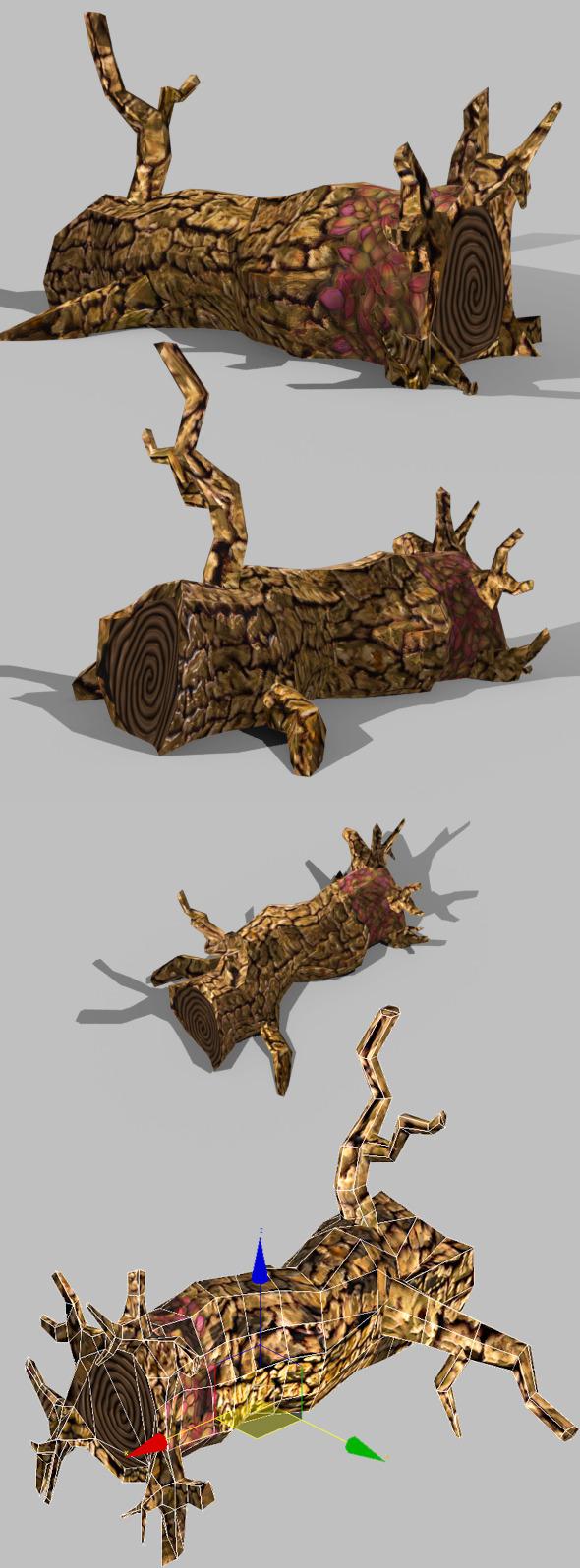 3DOcean Toon Textured Dead Tree 5513919