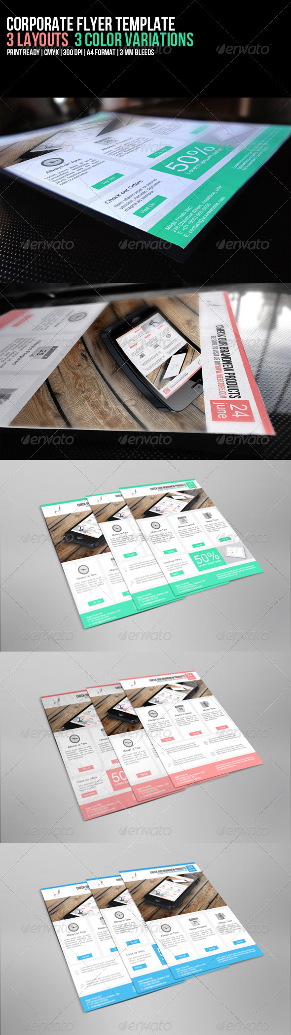 GraphicRiver Corporate Flyer Template 5325047