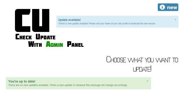 Check Update Script with Admin Panel (Miscellaneous) Download