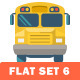 School and Education Flat Icons - GraphicRiver Item for Sale