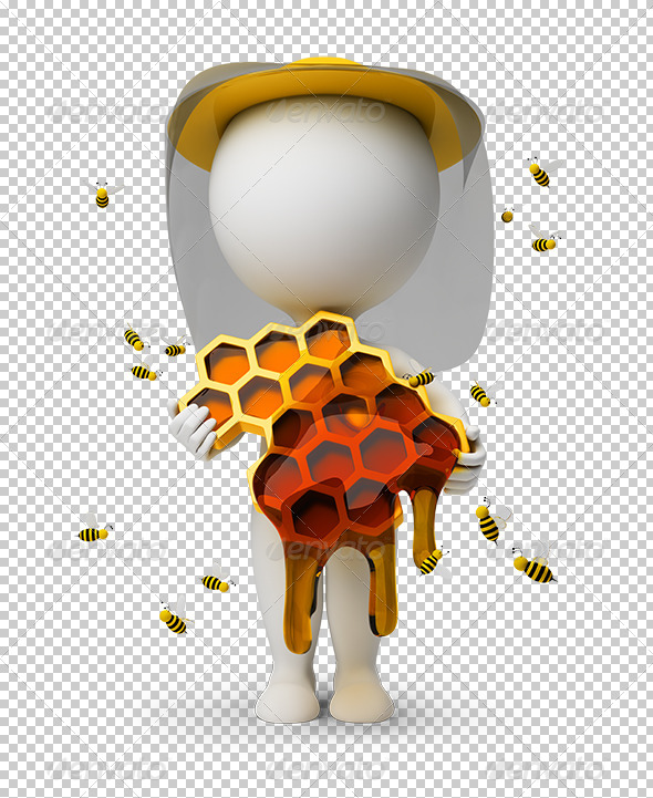 GraphicRiver 3D small people beekeeper 5514425