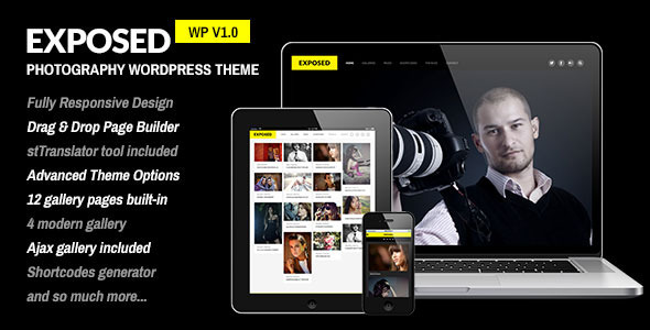 ThemeForest Exposed Responsive WordPress Photography Theme 5496096