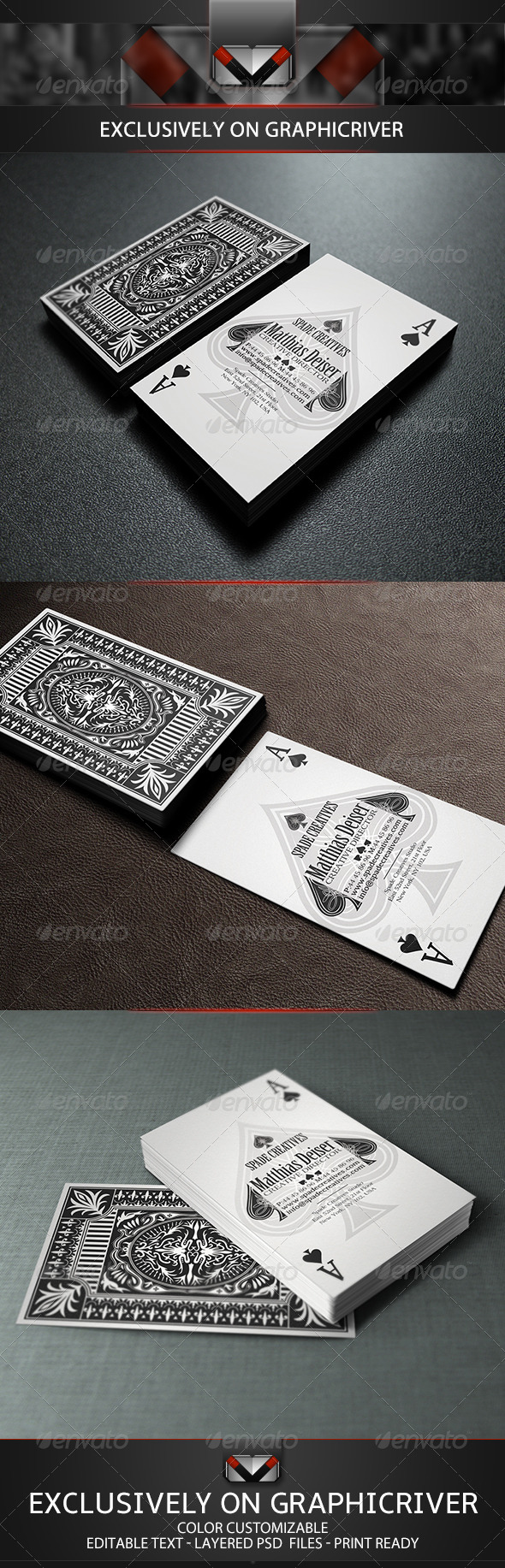 GraphicRiver Poker Business Card 5515213